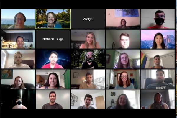 Screenshot of CMBP Trainees attending the Autumn 2020 orientation meeting on Zoom